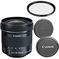 Canon EF-S 10-18mm f/4.5-5.6 IS STM Zoom Lens for Canon SLR Cameras (Certified Refurbished)