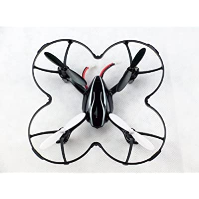 Hubsan X4 H107 H107L Quadcopter Propeller Blades Protection Guard Cover Black: Toys & Games