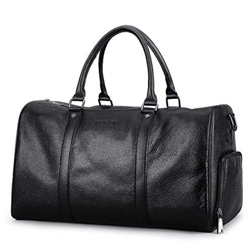 Leather Marrone di grande Nero Scarpe colore For a da multifunzionale tracolla lavoro capacità Borsa Bagagli Borsa Layer Puwenycc Men First EwxvPSUqqF
