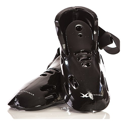 whistlekick Karate Sparring Gear Set of Boots - Premium Includes FREE Backpack - Martial Arts Sparring Gear Taekwondo Sparring Gear Set. Martial Arts Equipment Kickboxing Foot Gear - Adults & Kids