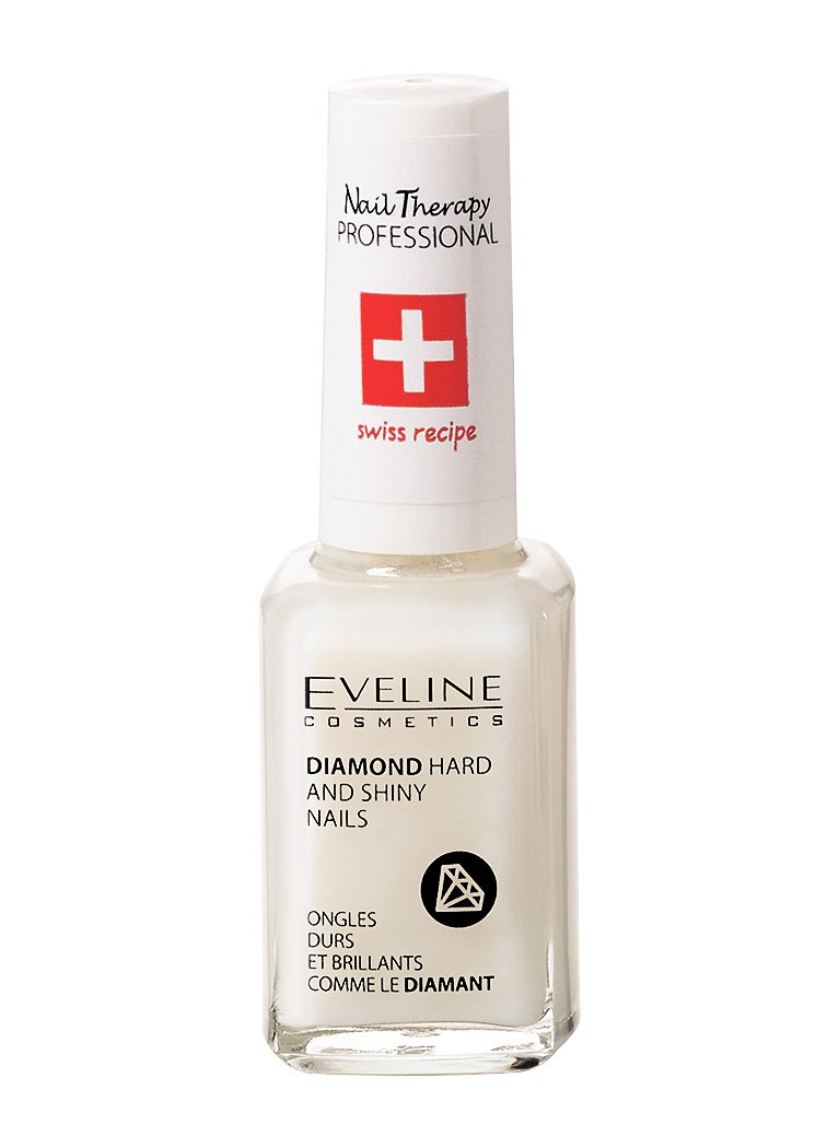Eveline Cosmetics Diamond Nail Professional Therapy | 12 ML | Conditioner Strengthener Hardener | Repair Treatment | Formaldehyde-free | Titanium Formula