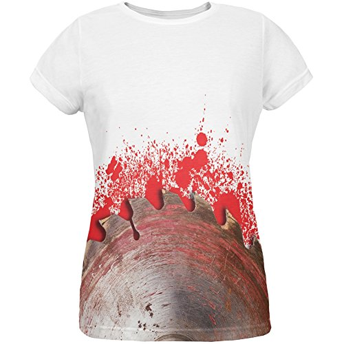 Halloween Bloody Saw Blade Massacre All Over Womens T-Shirt - -