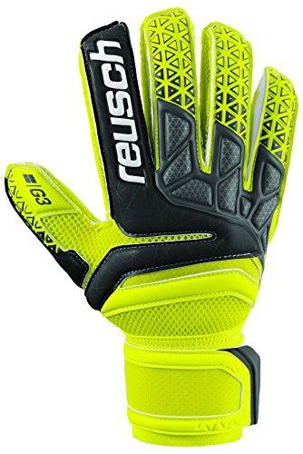 Reusch Soccer Prisma Prime G3 Finger Support Goalkeeper Gloves Yellow/Black – DiZiSports Store