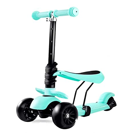 KOBOOW Scooter con Asiento Ajustable Patinete Niño Scooter 3 ...