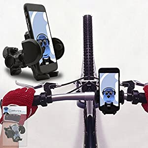 iTALKonline Vodafone Smart Turbo 7 Black 360 Degree Rotation Case Compatible Bicycle Cycle Bike Handle Bar Holder Support Cradle