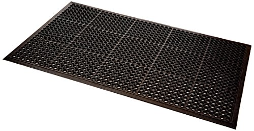 UltraSource Safety/Anti-Fatigue Mat for Wet Areas, 3' x 5', Black ()