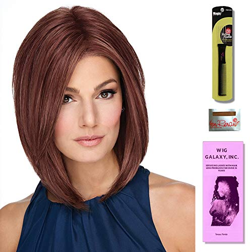 (On Point by Raquel Welch Wigs, Wig Galaxy Hair Loss Booklet & Magic Wig Styling Comb/Metal Pick Combo (Bundle - 3 Items) (SS Shaded Biscuit (RL19/23SS)))