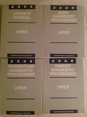 Chrysler Dodge Viper (2006 DODGE VIPER Service Shop Repair Manual SET OEM DEALERSHIP BOOKS MOPAR 2006 (service manual,body/chassis/powertrain diagnostics procedures manuals.))