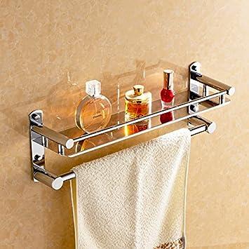 ZAIG Qualitäts-Badezimmer Regal Edelstahl-Handtuchhalter Badezimmer ...