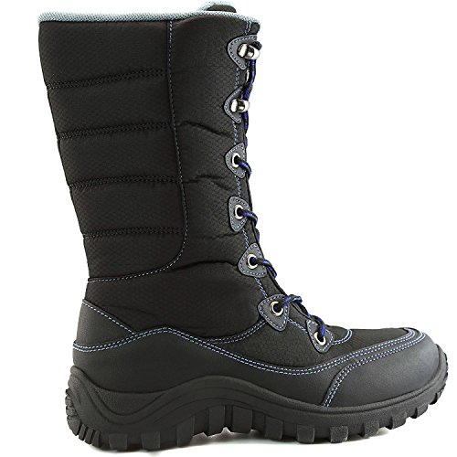 Ankle Warm Black Calf Boots Snow Hiking DailyShoes Outdoor Women's Mid AvqSYP