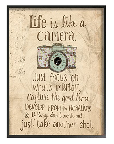 The Stupell Home Decor Collection Life is Like a Camera Icon Oversized Framed Giclee Texturized Art