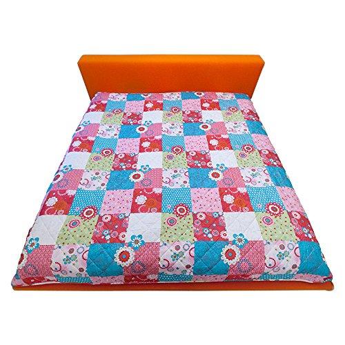Decke Kinderdecke Babydecke Krabbeldecke Tagesdecke Patchwork Überwurf 210x280 cm bunt (UVP: 49,95 €)