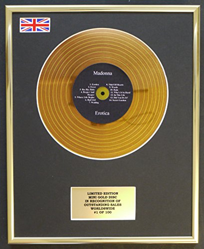 Mini Disco de Oro de edicion Limitada para Madonna/Mini Disco de Oro/edicion Limitada/COA/Ero
