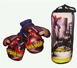 Marvel Spiderman Boxing Gloves & Punching Bag Toy Set