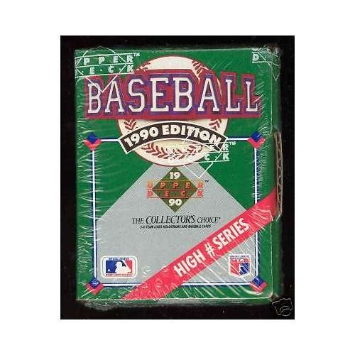 - 1990 Upper Deck Baseball Complete Box set High # series Hi FACTORY SEAL Number
