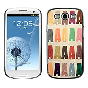 Hot Style Cell Phone PC Hard Case Cover // M00152378 Letters A Book Printing // Samsung Galaxy S3 S III SIII i9300