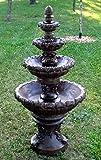 7' Concrete French Quarter 4-Tier Outdoor Garden Water Fountain
