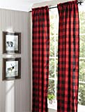 Buffalo Check Lined Panel Pair, 72X96 Window Curtain Drapery