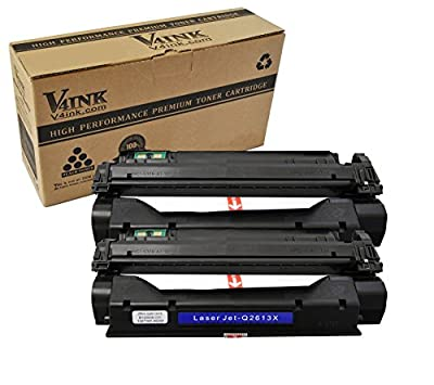V4INK New Compatible High Yield Q2613X Toner Cartridge Replacement with HP 13X Toner HP LaserJet 1000 HP LaserJet 1005 1150 HP LaserJet 1200 1300 HP LaserJet 3380 3300 3310 3320 3330 Printer
