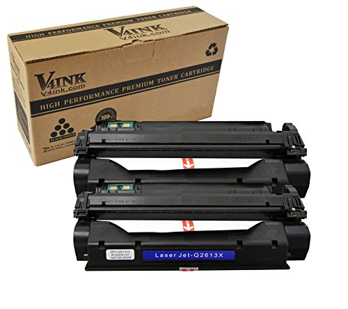 1300 Toner - V4INK New Compatible High Yield Q2613X Toner Cartridge Replacement for use with HP 13X Toner HP LaserJet 1000 HP LaserJet 1005 1150 HP LaserJet 1200 1300 HP LaserJet 3380 3300 3310 3320 3330 Printer