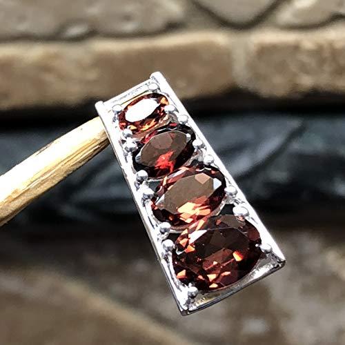 Natural 2.5ct Pyrope Garnet 925 Solid Sterling Silver Designer Pendant 27mm long ()