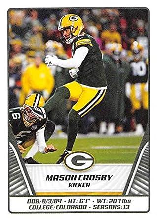 innovative design 07481 e7c70 Amazon.com: 2019 Panini NFL Sticker #398 Mason Crosby Green ...