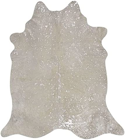 rodeo Silver White Acid Wash Cowhide Rug 6×6