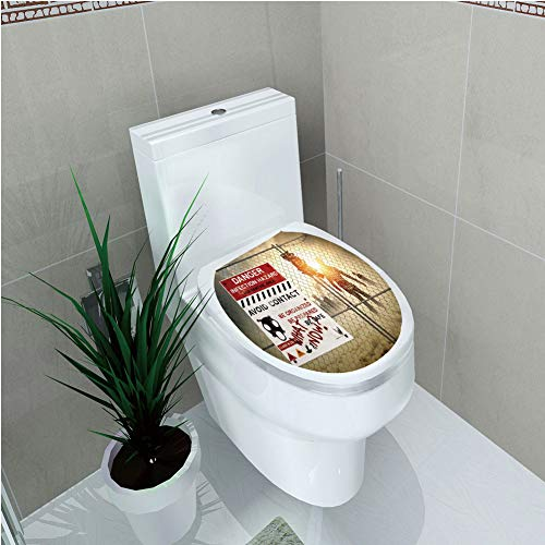Toilet Sticker,Zombie Decor,Dead Man Walking Dark Danger Scary Scene Fiction Halloween Infection -