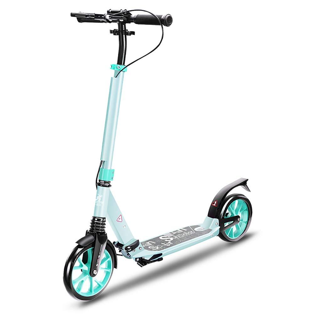 Scooter Patinete Plegable para Adultos, Doble Freno de ...