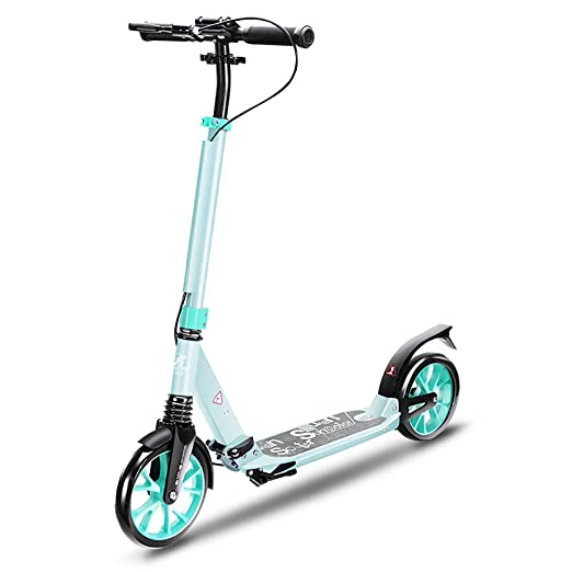 Scooter Patinete Plegable para Adultos, Doble Freno de ...