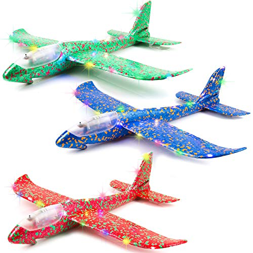 - Toysery Airplane Foam | Develop Hand-Eye Coordination of Kids | Premium Material | Promote Parent-Child Relationship | Comes with LED Flash Lights | Ultimate Pleasure to Kids | Light in Weight