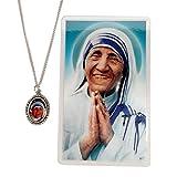 St. Teresa of Calcutta Pendant & Prayer Card