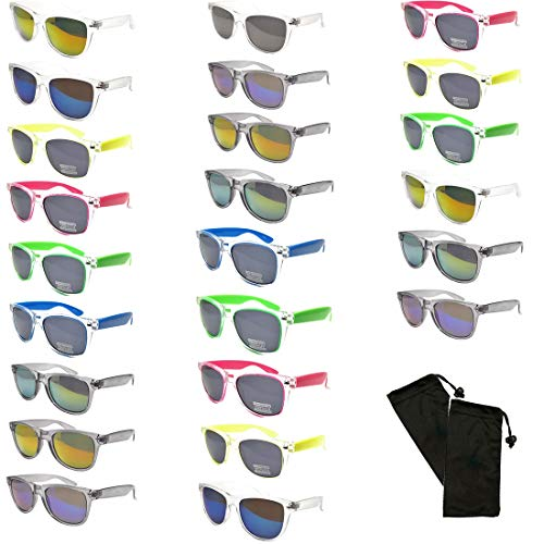 12 Pairs Unisex Fashion Designer Retro Vintage UV 100% WHOLESALE SUNGLASSES (12 Pairs Retro Ramdom Styles, Assorted) -