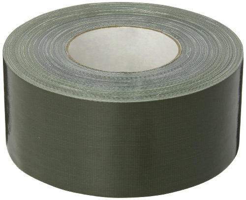 Nashua 357 Polyethylene Coated Cloth Premium Duct Tape, 55m Length x 72mm Width, Olive Drab - Polyethylene Coated Cloth Duct Tape