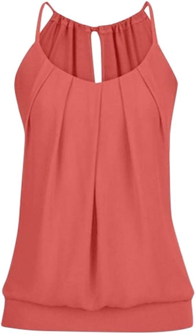 KIMODO Damen Bekleidung T Shirt Bluse Tank Top Damen Camisole Sommer Lose Weste Schwarz Rosa Mode 2019