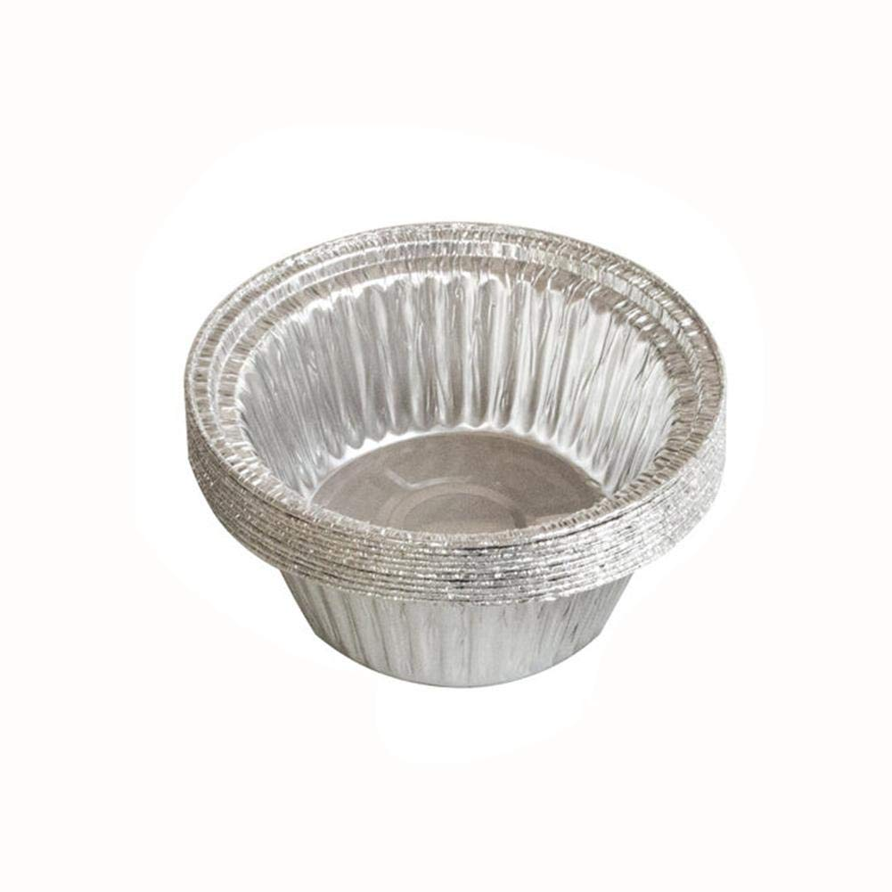 Heptern Disposable Aluminum Foil Pan Disposable Tin Paper Pans 10-Piece Round for Baking Roasting Broiling Cooking and BBQ