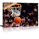 Wall26 - Swish - Basketball in arena - Nothing but net - Gametime - Canvas Art Home Decor - 16x244 inches