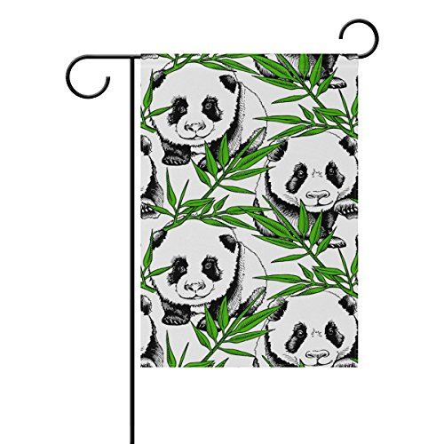 Yzgo Little Baby Panda In Bamboo Leaves Garden Flag Home Polyester Fabric Mildew Resistant Welcome House Yard Banner 12x18 Inch Buy Online In India At Desertcart In Productid 66018737