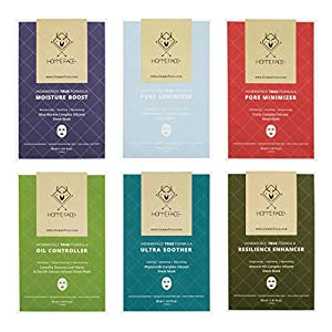 HommeFace Facial Sheet Masks for Men, 6 Sheets in Each Box