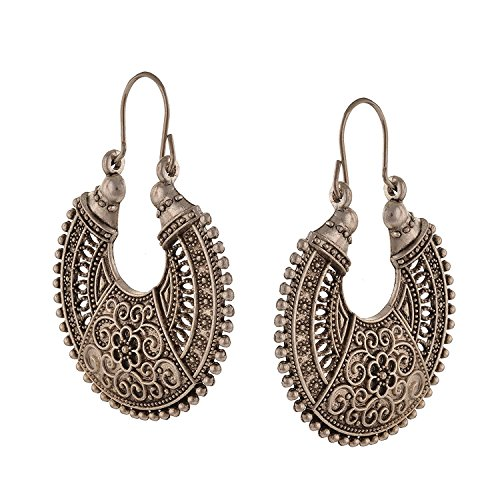 Indian Ethnic Retro Vintage Oxidised German Silver Earrings