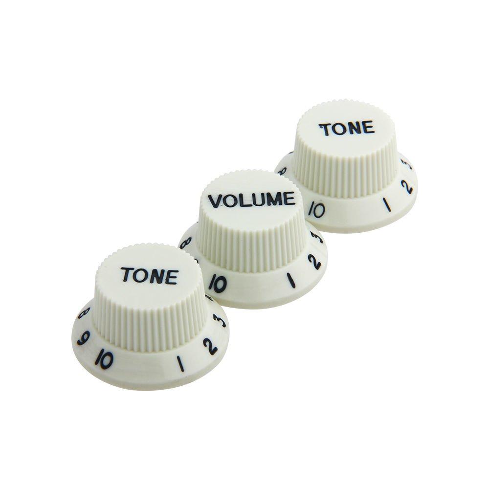 Kmise Guitar Knobs 1 Volume 2 Tone Guitar Knob Cream for Fender strat guitar replacement Ltd 4334249699