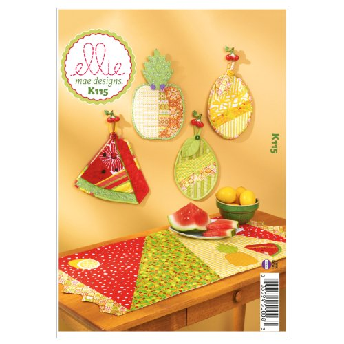 Festive Patterns - Kwik Sew K0115 Festive Fruit Sewing Pattern, One Size Only