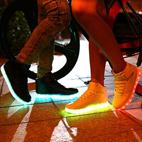 LED Sportive Scarpe Avete contattarci Le a Scarpe Se Unisex Adulto Luminosi esitate Domande Accendono White con Non DoGeek Luci Sneakers tSqBAPwvnx
