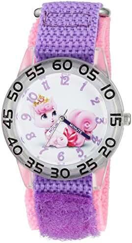Disney The Princess & The Frog Kids' W002839 Palace Pet Analog Display Analog Quartz Purple Watch