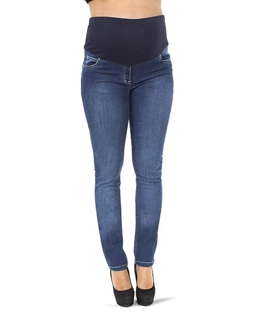 59078f494cce FLAY MATERNITY Jeans Pantalone Premaman Skinny Elastico Blue  Amazon.it   Abbigliamento