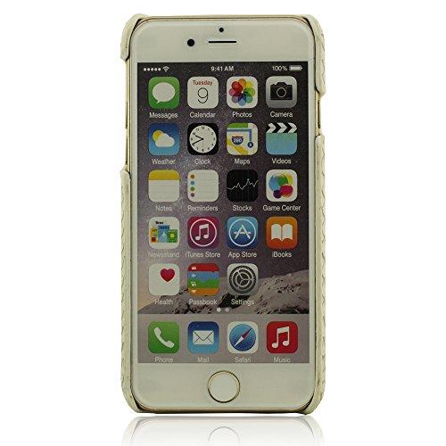 Schutzhülle Handyhülle für iPhone 6 Plus / 6S Plus 5.5 Zoll - Weiß, Metal Ring Entwurf Halter Funktion, Hart Starr Schwer iPhone 6 Plus Hülle, iPhone 6S Plus Hülle, Animal Haut Korn Löwe Aussehen + Hü