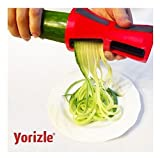 Yorizle Vegetable Spiral Slicer Spiralizer Complete Bundle - Vegetable Spiralizer and Cutter - Pasta Noodle Spaghetti Maker