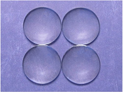 Beads Dome (25 CleverDelights 40mm Round Glass Cabochons - 1 9/16