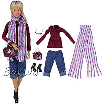 6e5b3071fd BARWA Evening Wedding Party Clothes Casual Dress Outfit Set for 11.5 Inch  Girl Doll