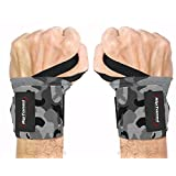 "Wrist Wraps by Rip Toned - 18"" Professional Grade With Thumb Loops - Wrist Support Braces for Men & Women - Weight Lifting, Crossfit, Powerlifting, Strength Training - Bonus Ebook - Lifetime Warranty"